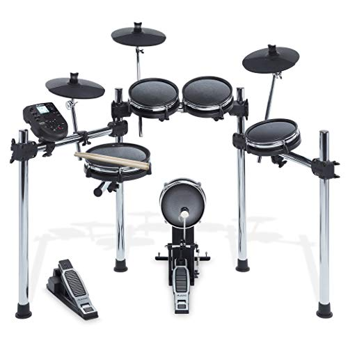 Eight-Piece Electronic Drum Kit with Mesh Heads