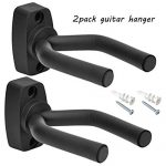 Guitar Wall Hanger Stands Ukulele Wall Mount 2 Pack Violin Wall Hook Keep Holder Mount Display Guitar Wall Stand Rack Bracket Most Guitar Bass Accessories Easy To Install
