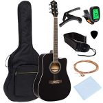 Full Size Beginner Acoustic Cutaway Guitar Set