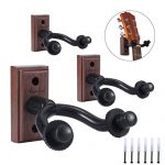 Guitar Hanger Real Hardwood Black Walnut Wall Mount Holder