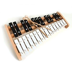 Full Size Glockenspiel Xylophone with 27 Metal Keys