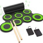 Roll Up Drum Practice Pad Midi Drum Kit with Headphone Jack Built-in