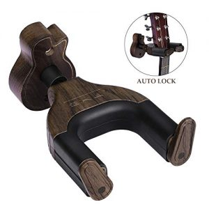 Guitar Hangers Black Walnut Hard Wood Wall Hook Holder Stand