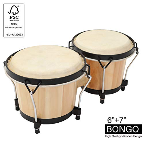 Wood and Metal Drum for Kids Adults Beginners Professionals with Tuning Wrench