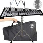 Professional Glockenspiel – Metal Bell Kit Xylophone with Stand,