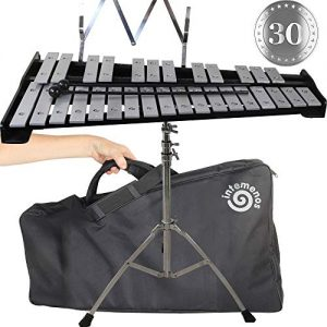 Professional Glockenspiel - Metal Bell Kit Xylophone with Stand,
