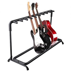 AW 9 Nine Holder Multi Guitar Folding Stand Band Stage Bass Acoustic Guitar Display Rack