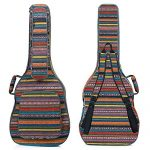 CAHAYA Bohemian Guitar Bag Vintage Guitar Case with Neck Cradle 0.65in Thick Sponge Padded Guitar Case for 40 41 42 Inch Acoustic Classical Guitars