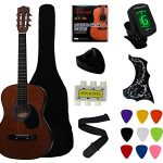 Coffee Beginner Acoustic Guitar Starter Package Student Guitar
