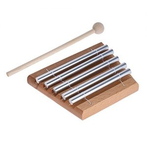 ammoon 5-Tone Tabletop Chimes Educational Musical Percussion Instrument with Mallet (5 Tone)