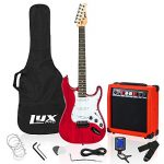 LyxPro 39 inch Electric Guitar Kit Bundle with 20w Amplifier