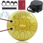 ZHRUNS Steel Tongue Drum 11 Notes 10 inches Percussion Instrument