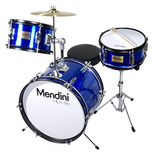16 inch 3-Piece Kids/Junior Drum Set with Adjustable Throne