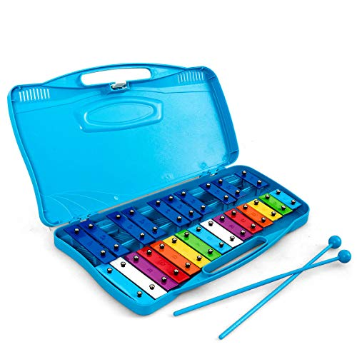 Xylophone w/Case, Colorful Musical Toy w/Clear Tuned Metal Keys