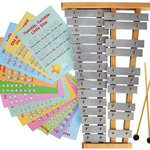 Glockenspiel 25 Note Chromatic Metal Xylophone