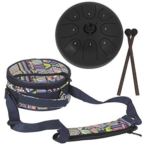 Mini Steel Tongue Drum with Musical Mallet and Travel Bag