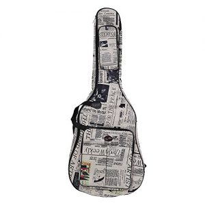Andoer 600D Water-resistant Oxford Cloth Double Stitched Padded Straps Gig Bag Guitar Carrying Case for 41 Inchs Acoustic Classic Folk Guitar (Style2)