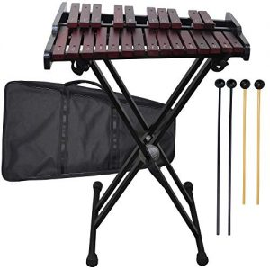 Wooden 25-note Xylophone with Metal Stand