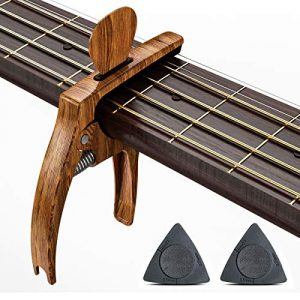 3 in 1 Zinc Alloy Metal Capo for Acoustic and Electric Guitars