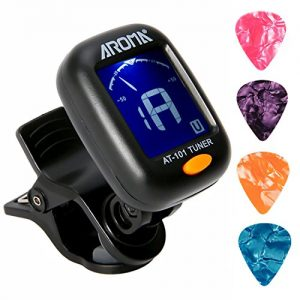 Clip On Guitar Tuner For All Instruments, Ukulele, Guitar
