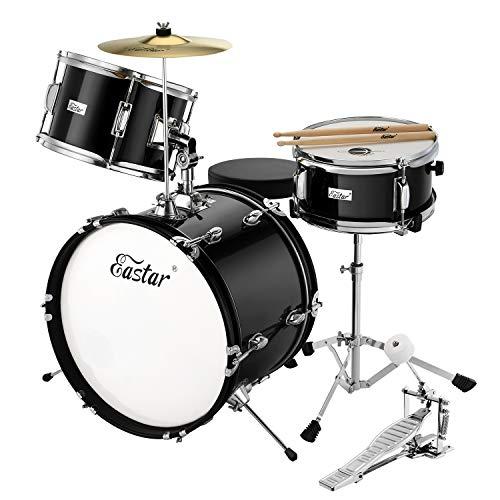 Eastar 16 inch 3 Piece Kids Drum Set Kit with Throne