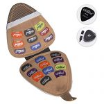 Guitar Picks Holder with 20pcs – Acoustic Electric Guitar Picks Variety Pack Mixed Thickness Picks 0.58mm 0.71mm 0.81mm 1.2mm, 1.5mm Guitar Plectrums Bag Case Gift for Guitarist