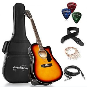 Full-Size Cutaway Thinline Acoustic-Electric Guitar Package
