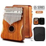 Kalimba Thumb Piano 17 Keys with Mahogany Wood,