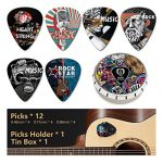 Unique guitar picks. The pick holder is easy to paste anywhere on the guitar as you want, suitable for bass, electric guitar, folk guitar and ukulele. It's the best gift for guitar lovers.