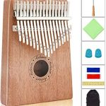 Helesin 17 key Thumb Piano Solid Finger Piano with Locking system