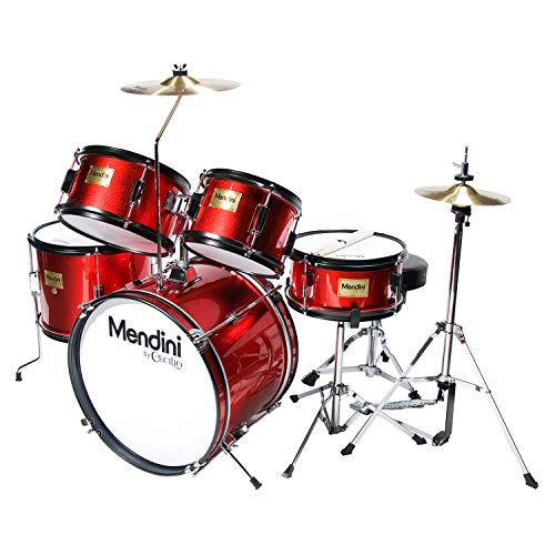 Complete Kids/Junior Drum Set with Adjustable Throne,