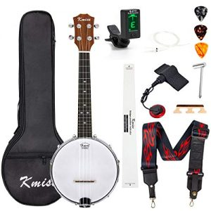 Banjo Ukulele Concert Size 23 Inch With Bag Tuner Strap Strings
