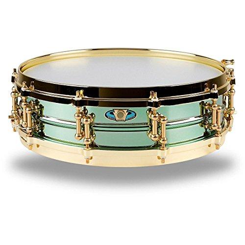 Carl Palmer VENUS Signature Green Brass Snare Drum