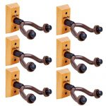 Guitar Wall Mount Hanger 6-Pack, Ohuhu Guitar Hanger Wall Hook Holder Stand for Bass Electric Acoustic Guitar Ukulele