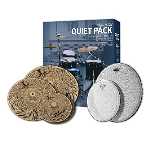 Quiet Cymbal Pack with Remo Silentstroke Drumheads