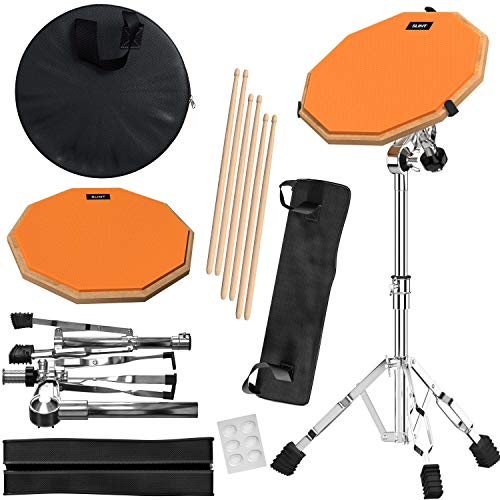 Drum Pad Double Sided with Drumsticks and Drum Stand