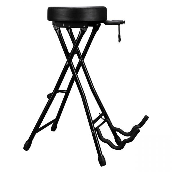temi Glarry Foldable Guitar Stand Playing Stool Stand Footstool