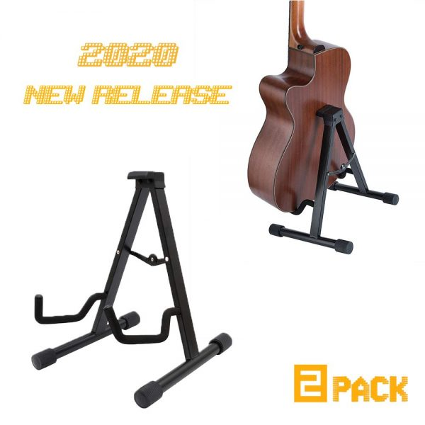 EastRock Guitar Stand 2 Pack Portable Guitar Holder Universal Tripod Adjustable A Fame Folding Guitar Stand Multiple Guitars for Acoustic Guitar Electric Guitar Bass