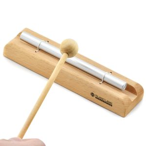 MUSICUBE Zenergy Chime Solo Meditation Chime with G Tone Wooden Hand-held Percussion Chimes for Classroom Management, Yoga, Meeting and Sound Therapy, Chime Mallet Included