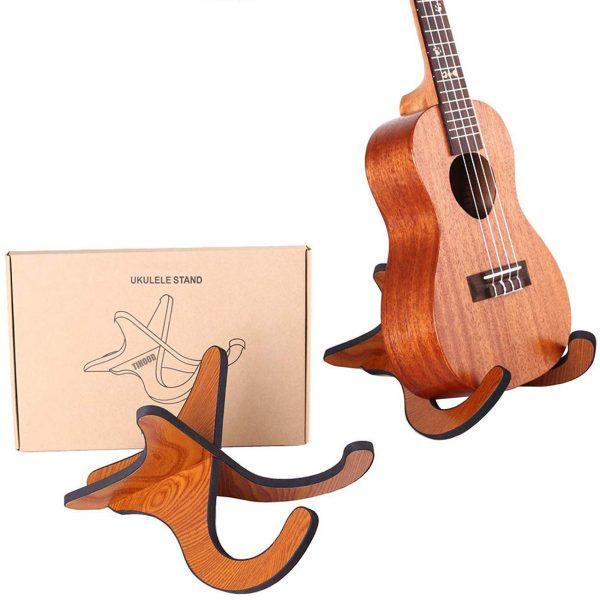 TIHOOD Wooden Ukelele Stand Holder Musical