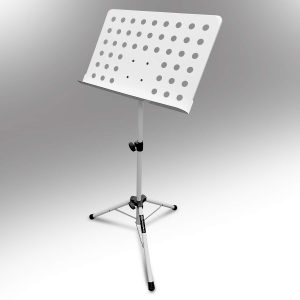 AxcessAbles SM-501 Orchestra Conductor Sheet Music Stand (White)