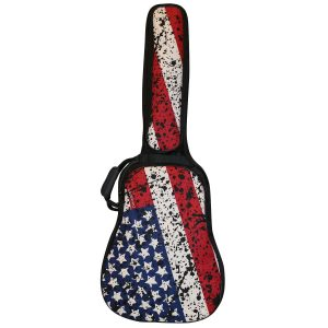 ChromaCast USA Flag Graphic Multi-Pocket Acoustic Guitar Padded Gig Bag (CC-APB
