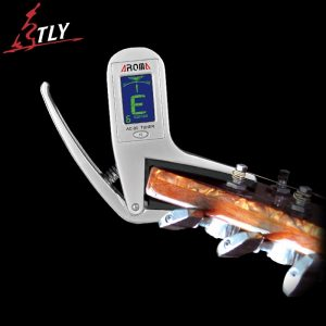 Aluminium Alloy 2 in 1 Clip-on Guitar Tuner & Capo for Guitar