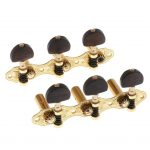 6 Pieces Vintage Connected Guitar String Tuning Pegs Tuner Machine Heads Knobs Tuning Keys for Acoustic or Classical Guitar