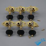 1 Pair Left and Right Antique Pure Copper Hollow Classical Guitar String Tuning Pegs Machine Heads Tuners Keys 3L3R 306GX-P12 1