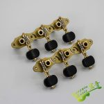 1 Pair Left and Right Antique Pure Copper Hollow Classical Guitar String Tuning Pegs Machine Heads Tuners Keys 3L3R 306GX-P12 2