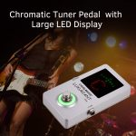 Coolmusic Chromatic Guitar Tuner Pedal High Precision Tuner Pedal LED Display True Bypass for Guitar Bass Guitar Accessories
