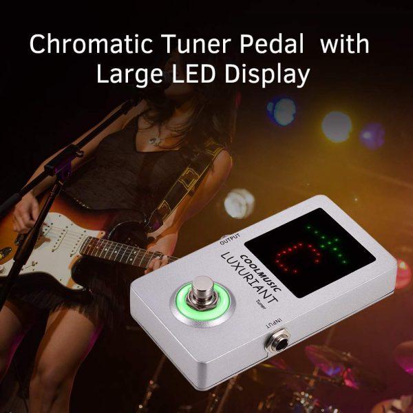 Coolmusic Chromatic Guitar Tuner Pedal High Precision Tuner