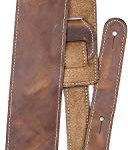 "Perri's Leathers Ltd. Guitar Strap, 2.5"" Wide Baseball Leather, Adjustable Length, (SP25S-7049) Tan, Made in Canada"