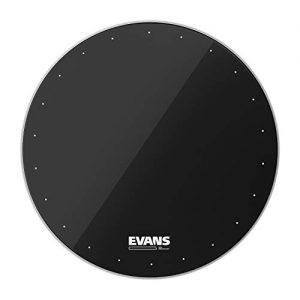 Evans EQ1 Resonant Black Bass Drum Head, 22 Inch